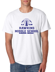 Men's T Shirt AV Club Hawkins Middle School Tee Shirt