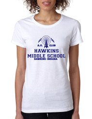 Women's T Shirt AV Club Hawkins Middle School T Shirt