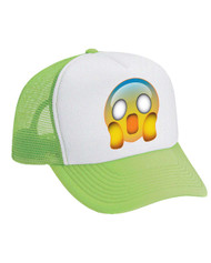 Emoji Frightened Valucap Foam Trucker Cap