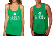 Couple Tank Top Irish Queen and King St Patrick's Party Set