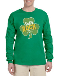 Men's Long Sleeve Shamrock Fest St Patrick's Day Party Top
