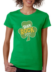 Women's T Shirt Shamrock Fest St Patrick's Day Party Shirt