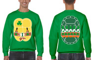 Men's Sweatshirt Ninja St Patrick's Day Cool Party Top