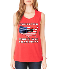 Women's Flowy Muscle Tank Undefeated World War Champions