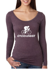 Women's Shirt Cycologist Love Sport Funny Cycling Shirt