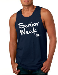 Men's Tank Top Senior Week 17 White Senior Party Top