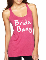 Women's Tank Top Bride Gang White Print Bachelorette Party Top
