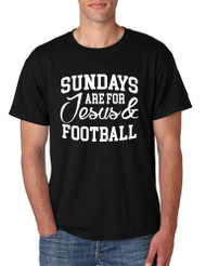 Men's T Shirt Sundays Are For Jesus And Football Humor Tee