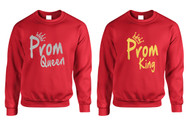 Couple Sweatshirts Prom Queen King Gold Silver Cool Prom Tops