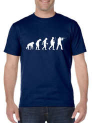 Men's T Shirt Hunting Evolution Funny Hunting Tee Shirt
