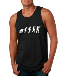 Men's Tank Top Hunting Evolution Funny Hunting Top