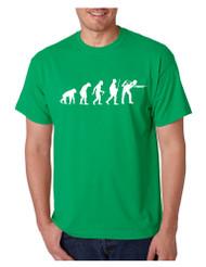 Men's T Shirt Pool Snooker Evolution Funny Billiards T Shirt