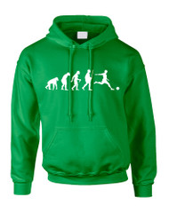 Adult Hoodie Soccer Evolution Funny Love Sport Top