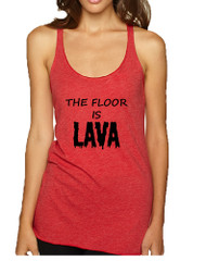 Women's Tank Top The Floor Is Lava Game Popular Tee Fun Gym Top