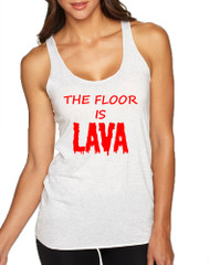 Women's Tank Top The Floor Is Lava Red Popular Childhood Game