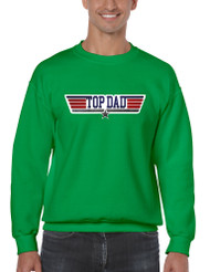 Men's Sweatshirt Top Dad Guns Father's Day Shirt Love Dad Gift