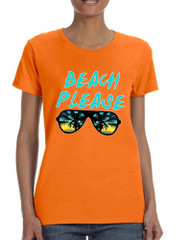Women's T Shirt Beach Please Summer Vacation Beachwear