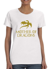 Women's T Shirt Mother Of Dragons Gold Print Popular Top