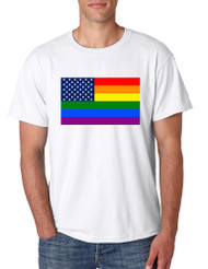 Men's T Shirt United States Gay Pride Flag Support Love Shirt