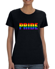 Women's T Shirt Pride Rainbow Colors Gay Love Parade Tee