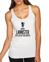 Women's Tank Top House Lannister Debt Collection Agency Fun