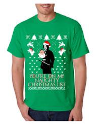 Men's T Shirt My Naughty Xmas List Arya Stark Ugly Christmas Tee