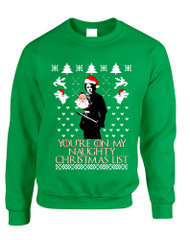 Adult Sweatshirt My Naughty Xmas List Arya Stark Ugly Christmas