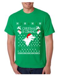 Men's T Shirt Christmas Is Coming House Stark Ugly Xmas Tee