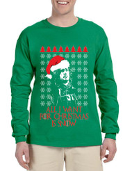 Men's Long Sleeve All I Want For Christmas Is Snow Jon Snow Ugly
