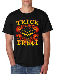Men's T Shirt Trick Or Treat Halloween Tee Cute Pumpkin Shirt