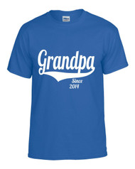 Grandpa since (ANY YEAR) Gift shirt