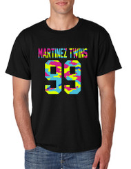 Men's T Shirt Martinez Twins 99 Neon Camo Print Trendy Shirt