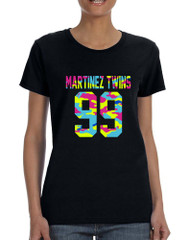 Women's T Shirt Martinez Twins 99 Neon Camo Print Trendy Tee