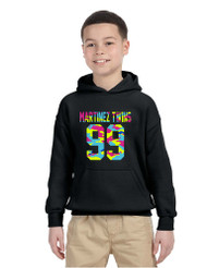 Kids Youth Hoodie Martinez Twins 99 Neon Camo Print Trendy