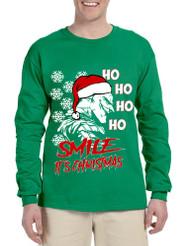 Men's Long Sleeve Christmas Joker Smile Its Christmas Ugly Gift