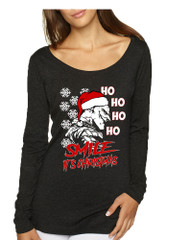 Women's Shirt Christmas Joker Smile Its Christmas Ugly Sweater