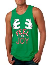 Men's Tank Top Feel The Joy Cute Xmas Shirt Trendy Holiday Gift