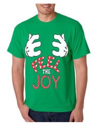 Men's T Shirt Feel The Joy Cute Christmas Tee Best Holiday Gift