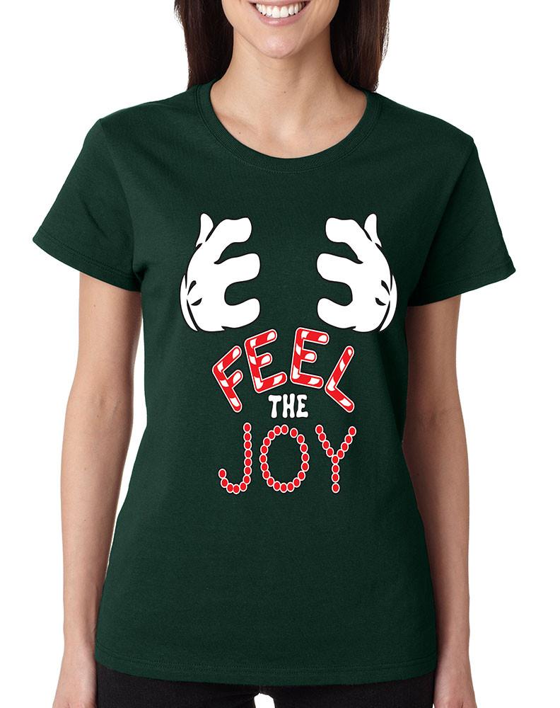 Christmas Shirt.Women S T Shirt Feel The Joy Cute Christmas Shirt Holiday Gift