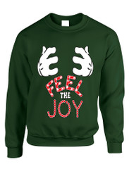 Adult Sweatshirt Feel The Joy Cute Christmas Gift Holiday Top