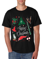 Men's T Shirt Harry Christmas Cool Ugly Xmas Hot Holiday T Shirt