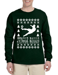 Men's Long Sleeve Jingle Balls Soccer Ugly Xmas Sport Lover Shirt