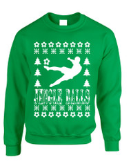 Adult Sweatshirt Jingle Balls Soccer Ugly Xmas Sport Fans Present