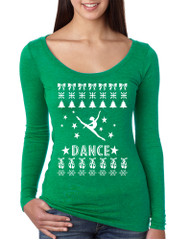 Women's Shirt Dance Ugly Xmas Tee Love Dancing Is Life Shirt