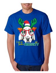 Men's T Shirt I Am On Santa's Naughty List Cute Dog Xmas Gift
