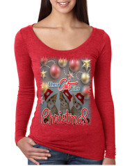 Women's Shirt These Cats Like Christmas Cute Gift Cat Lover Shirt