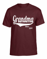 Grandma since any year gift shirt