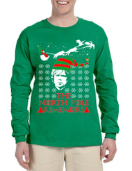 Men's Long Sleeve The North Pole Remembers Xmas Ugly Shirt Gift
