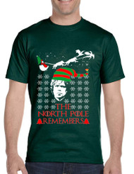 Men's T Shirt The North Pole Remembers Xmas Ugly Shirt Cool Gift