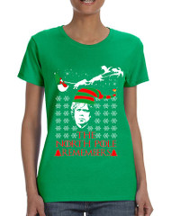 Women's T Shirt The North Pole Remembers Ugly Xmas Shirt Gift
